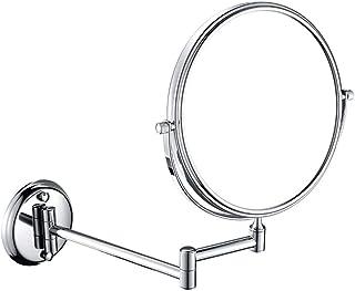 مرايا ماكياج الحائط ، 8 بوصة حمام مكبرة مزدوجة الوجه قابل للتعديل قابل للتعديل دوار فانيتي مرايا التجميل
