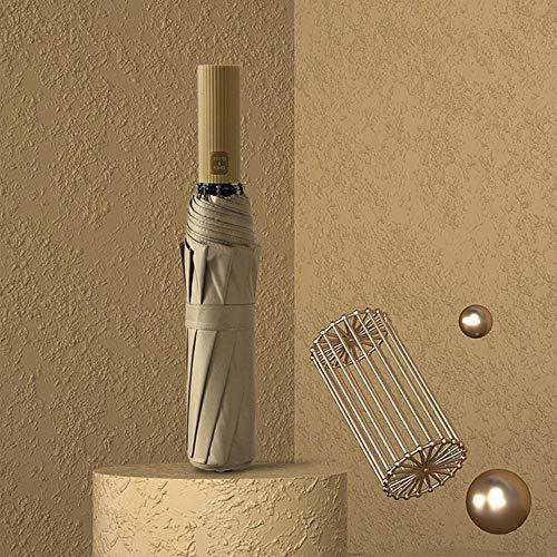 NOP Automatische Paraplu Mannen Drie Vouwen Mannelijke Vrouwelijke Parasol Parasol Paraplu Regen Vrouwen Winddichte Paraplu Met Gekleurde Handgrepen