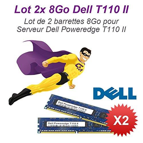 Lote 2x 8GB, 16GB RAM servidor Dell T110II DIMM 240-pin DDR3PC3–10600E ECC 2Rx8
