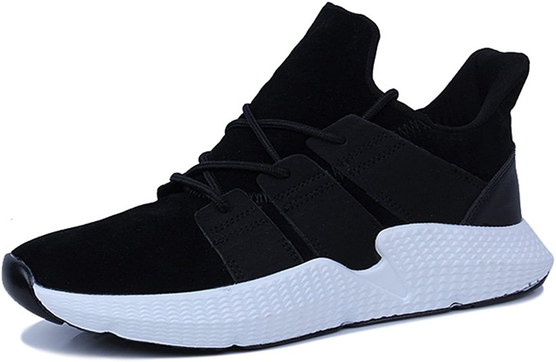 Men's shoes Feifei Spring and Autumn Fashion Breathable Leisure Non-Slip Sports shoes 3 colors (color   Black, Size   EU 41 UK7.5-8 CN42)