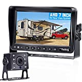 Backup Camera for Truck HD with 7 Inch Monitor 30 Mins DIY Installation Kit for RVs,Trailers,5th Wheels,Campers High-Speed Rear View Observation System Second License plate Camera Available Yakry Y14