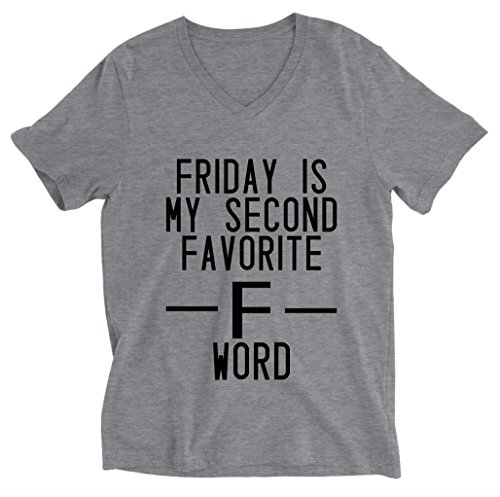 Friday Is My Second Favorite F Word Unisex V-neck T-shirt - Funny Shirts
