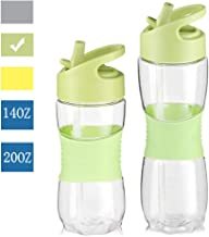 Sivaphe Sports-Water-Bottle with Straw&Handle Tritan BPA-Free Leak-Proof for Running Fitness Excerise Hiking Cycling School