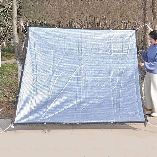 Bâches Filet De Refroidissement pour Ombrage Sunblock avec Oeillets, Feuille D'aluminium Réfléchissante À 95% De Parasol, en Tissu pour Jardin, 150g (Taille : 4×8m)