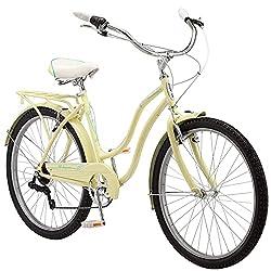 cheap Schwinn Perla Ladies Beach Cruiser Bike 26 Inch Wheel Yellow