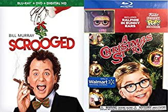A Humorist Super Holiday Bundle: Christmas Story With Funko Keychain (Exclusive Enhanced Packaging) & Scrooged (Blu-ray/DVD/Digital) 2-Movie Blu-ray Bundle POCKET POP! Character Ralphie in Bunny