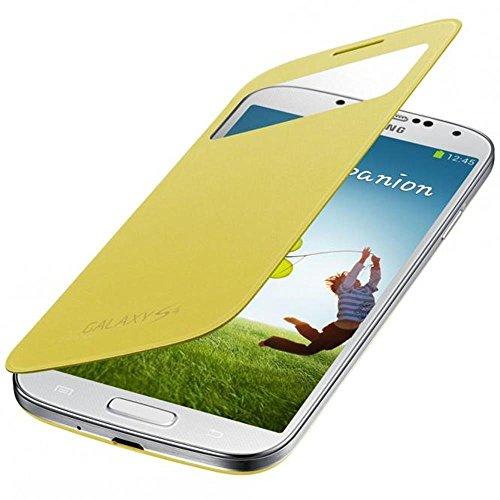 Samsung S View Hülle Schutzhülle Premium Case Cover für Galaxy S4 - Gelb
