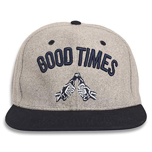 DRUNKEN Men's Good Times Fleece Snapback Warm Winter Hip Hop Cap ( Light Grey , Free size )