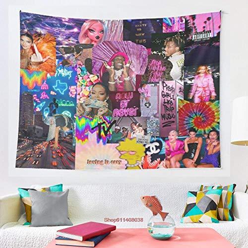 Tapiz para colgar en la pared, diseño hippie, de café, dormitorio, mandala