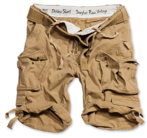 Surplus Division Herren Cargo Shorts, beige, L