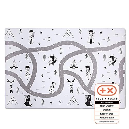 Grand tapis de jeu pour bébé Hakuna Matte 2,0x1,4m - Tapis de jeu design scandinave élégant pour ramper, jouer et faire du yoga - En mousse épaisse, douce, imperméable - 100% sûr, inodore, non toxique
