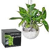 SCANDINORDICA Disco Ball Planter - Hanging Disco Ball Planter Pot Plant Hanger for Indoor or Outdoor Plants | Home Decor, Boho Decor, Disco Ball Decor - 6 inch