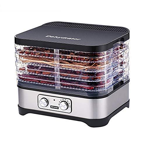 AURALLL Inicio deshidratador Grado de la máquina Máquina deshidratador 5 Bandeja deshidratador de Alimentos Mejor para el Secado de Frutas, Carne y Verduras 35~70 ℃ Temperatura de Ajuste