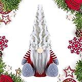 PINPOXE Gnomo de Navidad, Papá Noel, Muñeco de Navidad, Mini muñeco de Papá Noel gnomo Hecho a Mano, Juguete de Peluche de gnomo de Navidad Figura de Navidad de pie Decoración navideña