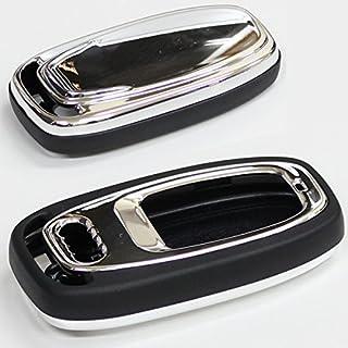 アウディ 純正適合 リモコン スマートキーケース 高級仕様クロームシルバー Audi専用 キー 保護カバー