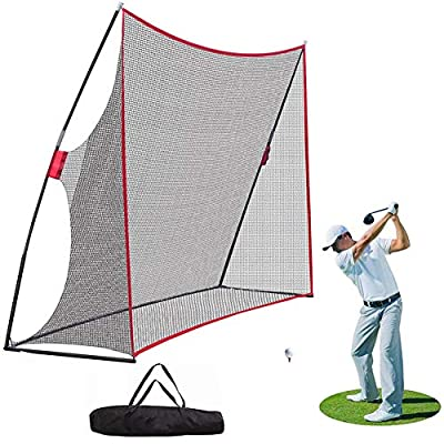 NSEN Golf Net, Golf Nets for Backyard Driving, Huge 10 x 7ft Golf Practice Net, Portable Golf Hitting Nets for Indoor Outdoor Use, Golf Training Net for Swing & Chipping (with Carry Bag)