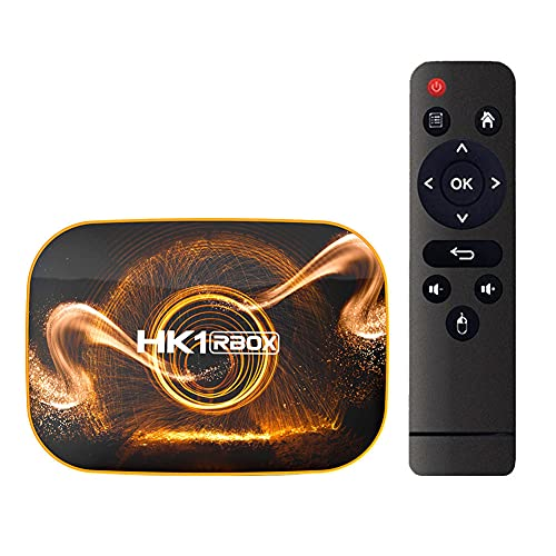 SSRSHDZW Android 10.0 RK3318 HD Reproductor de Red Dual-Band WiFi DC 5V / 2A 4K (4096x2160 Pixel) Home Media Player Dual Band Band & Voice Control Remoto,2gb+16gb