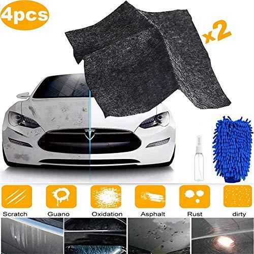 2020 Upgrade Nano Magic Cloth für Autos , Autolack-Kratzerentferner , Mehrzweck-Autokratzer-Reparatursatz , Autolackkratzer-Reparatur , Autodellen-Entferner und Kratzerentferner , Reparaturagent