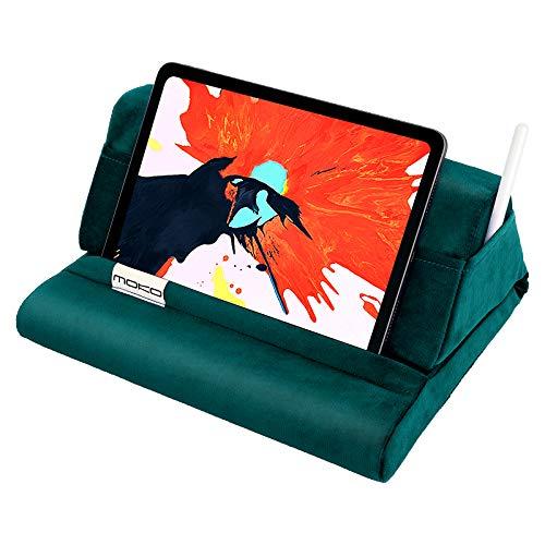 MoKo Tablet Kissen Stander Samt Kissen Halter fur Tablet bis zu 11 Lesekissen fur iPad Air 4 109 Air 3 iPad 1028 Gen iPad Pro 11105 Mini 5 Galaxy Tab S6S7 Turkis
