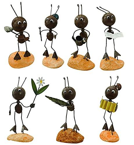 Figura decorativa de hormigas de hierro forjado para la oficina, el salón o la mesa