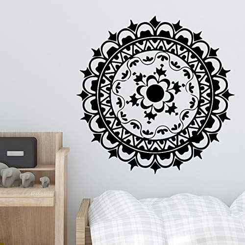 HNXDP Divertido círculo Adhesivos de pared Vinilo Impermeable Decoración del hogar Accesorios Decoración Sala de estar Dormitorio Vinilo extraíble Arte Café XL 58cm X 58cm