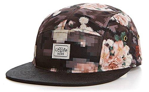 Cayler And Sons - Casquette 5 Panel Homme Paris Cap - Floral Digi Camo / Maroon
