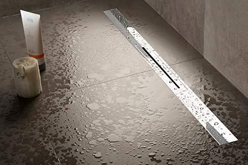 ESS Easy Drain R-Line in 700-1200 mm, Edelstahl gebürstet Duschrinne (kürzbar) (1200 mm)