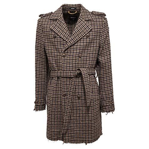 6814J Cappotto Uomo Officina 36 Vintage Effect Green/Black/Beige Coat Man [54]