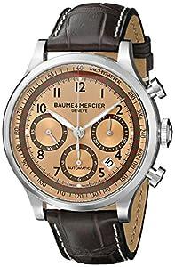 Baume & Mercier Men's BMMOA10045 Capeland Analog Display Mechanical Hand Wind Brown Watch image