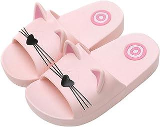 Babywearoutlet Boy's Girl's Slippers Cute Cartoon Cat Sandals Indoor Outdoor Beach Swimming Pool Bath Anti-Slip Slippers