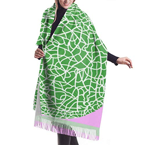 Jingliwang Bufandas Abrigo Chal Womens Winter Scarf Cashmere Feel Passion Fruit Pattern Scarves Stylish Shawl Wraps Soft Warm Blanket Scarves For Women