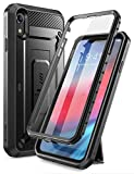 SUPCASE iPhone XR Hülle 360 Grad Handyhülle Outdoor Hülle Robust Schutzhülle Full Cover [Unicorn Beetle Pro] mit Integriertem Bildschirmschutz & Ständer für iPhone XR 6.1 Zoll 2018 (Schwarz)