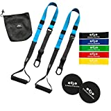Eximius Exercise Bodyweight Resistance Trainer Kit, Suspension Training Straps with Resistance Bands...