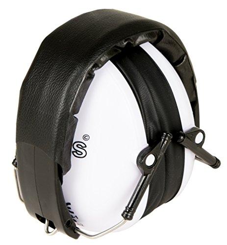 KiddyPlugs Gehörschutz für Kinder & Jugendliche | Kompakt, Komfortabel und Faltbarer Gehörschützer | Verstellbarer Ohrschützer - Mitwachsend | Ideal für Kinder ab 2 bis 12 Jahre | Farbe: Weiß