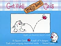 流木Designs Denise Albright Get Well Soon 16カードボックス