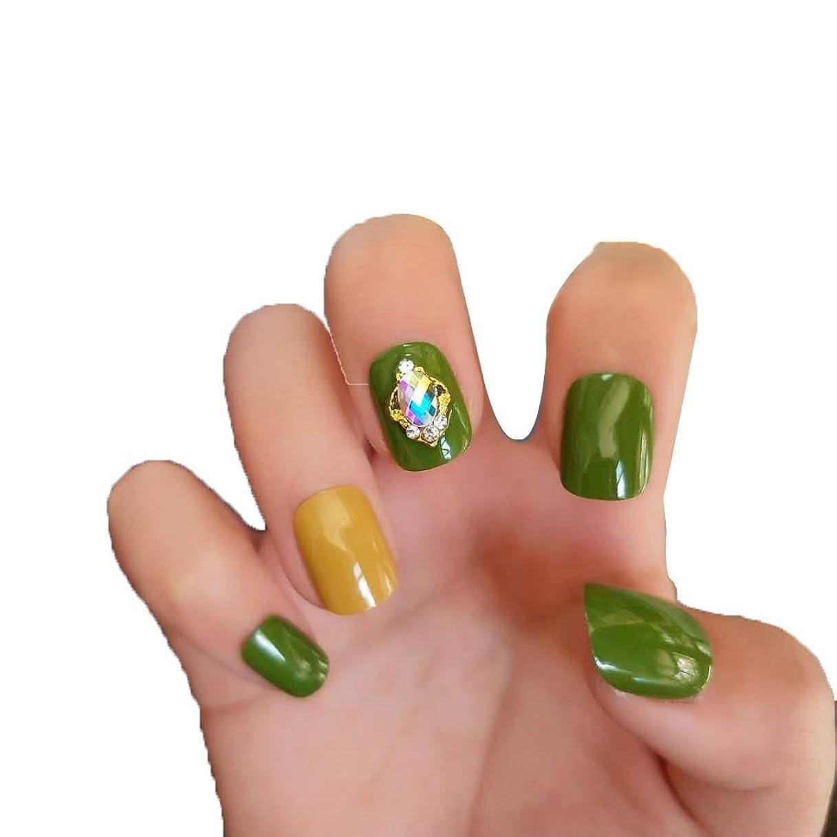 九月論理チップXUANHU NAIL PATCH ネイルチップ 24枚セット 偽爪 12別サイズ 手作りネイルチップ デコレーション ネイルチップ つけ爪 24枚入 シンプル