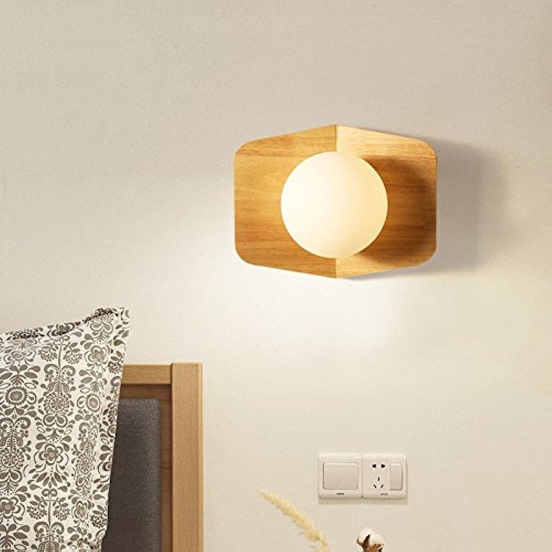 StiefelU LED Wandleuchte nach oben und unten Wandleuchten Massivholz Wandleuchte Wohnzimmer ist ein verkehrskorridor Lampe Schlafzimmer Nachttischlampe Kinderzimmer Wandleuchte, 5 W