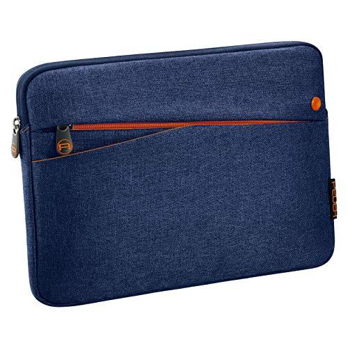 Pedea Tablet PC Tasche Fashion für 10,1-11 Zoll (25,6-27,96 cm) Schutzhülle Etui Hülle mit Zubehörfach, blau