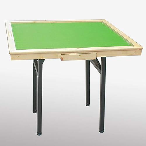NuoEn Mahjong-Tisch, Poker, Kartenspiele, Brettspiele, Kachelspiele, Domino, Pokertisch aus Holz (Farbe   Pine wood)