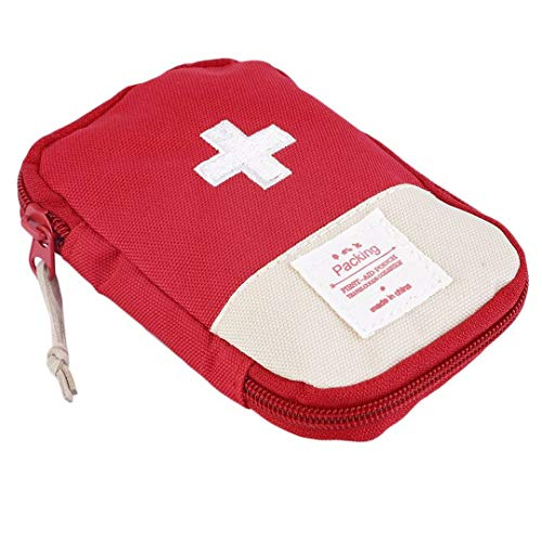 Striking Cross Symbol Outdoor Camping Home Survival Portable First Aid Kit Bag - Rouge