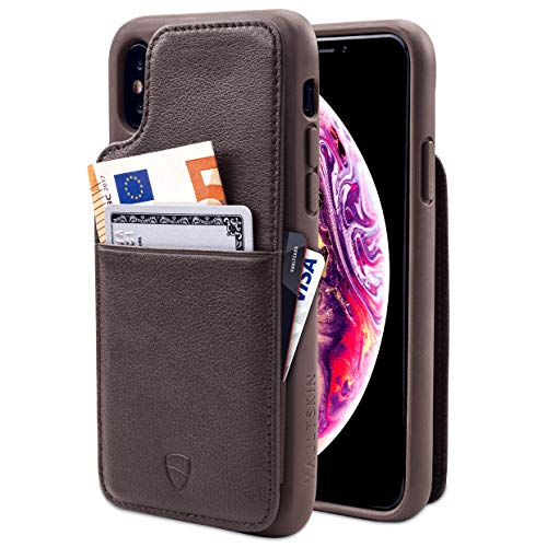 Vaultskin Eton Armour iPhone case con cuoio iPhone X/Xs Earthen