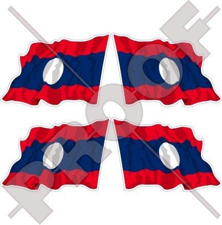 LAOS Waving Flag Lao People's Democratic Republic, Laotian ASIA 2