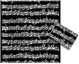 Black Sheet Music Gift Wrap for Presents