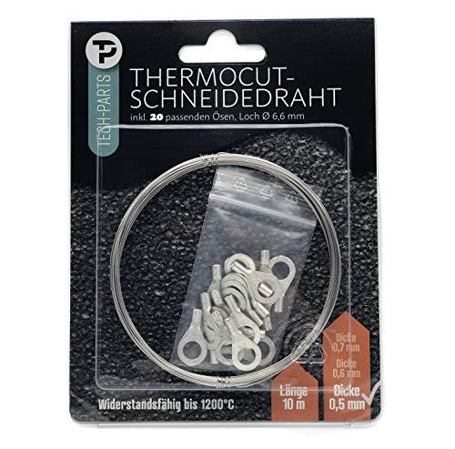 Polystyren/styrofoam skärtråd skärtråd set/polystyren/värmetråd isolering kompositsystem/10 meter 0,5 mm inklusive 12 öljetter