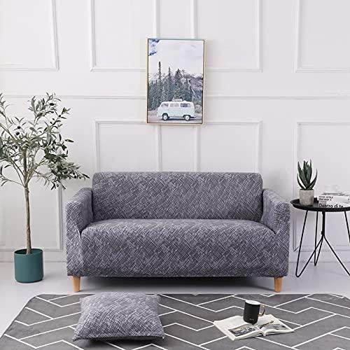 Funda de sofá Spandex Fit Sofá seccional y sofá de Esquina para Sala de Estar Geométrico Printedhousses A14 2 plazas