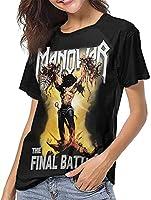 マノウォー野球Tシャツレディースサマーレジャートップスファッション半袖Tシャツ-Medium
