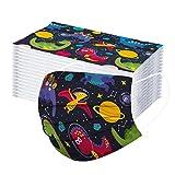BurBurly - bambini 50 Pezzi Simpatica Stampa di cartone animato Antipolvere Visiera Bocca Faccia e Getta 3 Strati Adatto per Bambino (H)