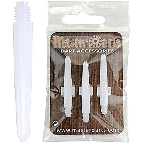 Dartshäfte Nylon Weiß Masterdarts, 5 Satz = 15 Stück, Short L4 = 34mm (ohne Gewinde)