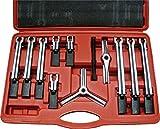 Tool Hub 9518 Juego de extractores de rodamientos de Engranaje Universal 2/3 Patas 12 Piezas