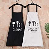 trounistro 2 Pack Schürze, Kochschürze Küchenschürze Grillschürze Wasserdicht Latzschürze Damen Küchenschürze mit Tasche für Damen Koch, Cupcake, Cafe (75 * 68CM)
